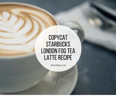I've been raving about London Fogs for weeks now, and have gotten lots of requests for the recipe, so I'm sharing it today! It's easy and so, so delicious, especially as the weath… Starbucks London, Starbucks Latte, Starbucks Recipes, Hot Tea Recipes, Coffee Recipes, Drink Recipes, Copycat Recipes, London Fog Recipe, London Fog Tea Latte