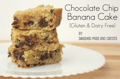 Chocolate Chip Banana Cake {Gluten & Diary Free Versions too}  I subbed with Jule's GF all-purpose flour and omitted the chocolate chips.  Still moist and delicious!