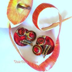 Rock on Rosy Red Apple  by VickiDianeDesigns on Etsy, $22.00