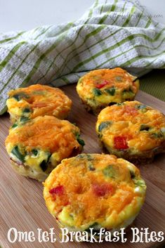 The Best Omelet Breakfast Bites You Will Ever Eat can be found right here! This healthy breakfast is also easy to make and the whole family will LOVE it! Click through for the recipe... A Mitten Full of Savings