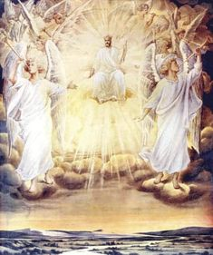 Angel Pictures, Jesus Pictures, Heaven Pictures, San Uriel, Jesus E Maria, Jesus Second Coming, I Believe In Angels, Biblical Art, Angels Among Us