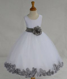 WHITE/ Mecury Grey picture Beautiful and Puffy by KidsDreamsUSA