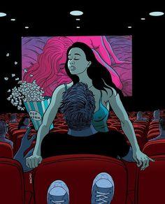 Ah le cinéma cet endroit qui nous donne ou redonne des sentiments émotions ou bien même de nouvelles sensations...
