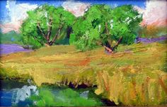 original 4x6 oil painting modern impressionist by KRBStudioDesigns