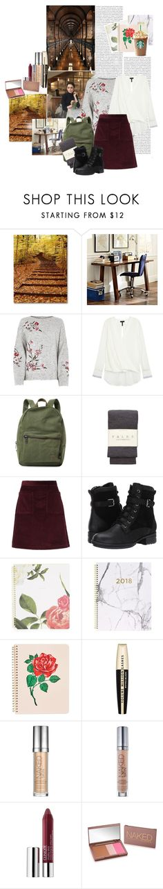 """Uni Outfit + my Make Up Essentials"" by iwa-j-marija ❤ liked on Polyvore featuring Oris, PBteen, rag & bone, Herschel Supply Co., Falke, A.P.C., Blondo, Eccolo, ban.do and L'Oréal Paris"