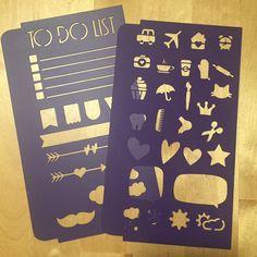 Stencil x bullet journal