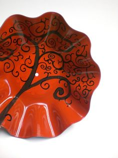 Swirly Tree Vinyl Record Bowl