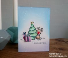I know Christmas is over, but I forgot to share this card, that I made from the SSS monthly December card kit #simonsaysstamp