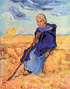 Vincent Van Gogh The Shepherdess oil painting reproduction