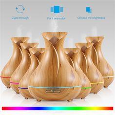 Nagyon szép, elegáns elektromos aroma párologtató. Színváltós világítás, fa kivitelezés. 300ml
