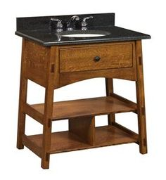 Buy bathroom vanities at DutchCrafters online or at our local store. Our Amish furniture vanity cabinets are solid wood construction and American made. Open Bathroom Vanity, Bathroom Vanity Cabinets, Small Bathroom, Bathroom Vanities, Amish Furniture, Furniture Direct, Handmade Furniture, Dream Bathrooms, Beautiful Bathrooms