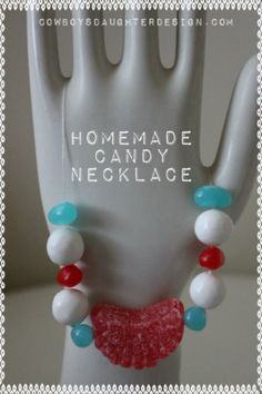 valentine ~ jewelry from candy