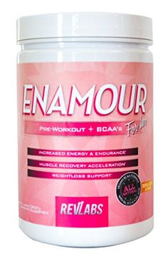 RevLabs ENAMOUR Womens Preworkout For Her with added Branch Chain Amino Acids Tropical Cocktail * Want additional info? Click on the affiliate link Amazon.com on image.