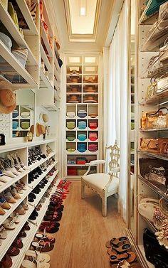 walk in closet. love it.