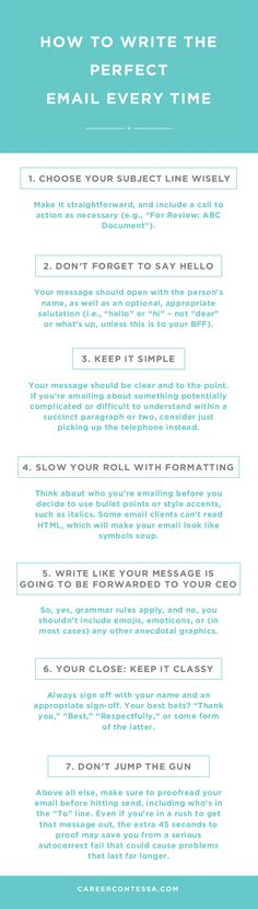 Email has become the name of the game when it comes to professional communications. But the overall ease of emailing can sometimes lead to grammatical errors, shoddily constructed sentences, a lack of digital professionalism, or worst of all, just bad manners. That's why we're breaking it down for you. | CareerContessa.com