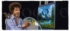 This once cracks me up. Bob Ross' 70th Birthday