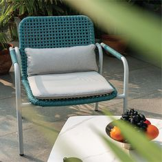The colour blue is associated with freedom, imagination and inspiration and is visually soothing and attractive at the same time. This beautiful chair by IDUS made with the loveliest shade of blue is the perfect for your summer outdoor plans! Bring it home and watch your terrace or garden transform into a pretty little chilling spot :) Visit our Instagram page or slide into our DMs for more details! Outdoor Garden Furniture, Outdoor Sofa, Outdoor Spaces, Outdoor Living, Sofa Furniture, Online Furniture, Furniture Design, Chilling, Terrace