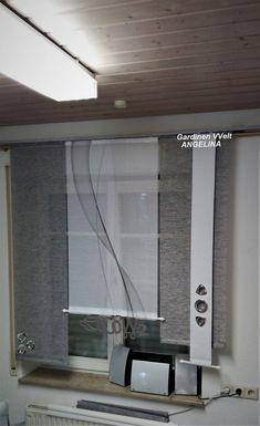 home theater planejado sala com espelho Scarf Curtains, Bathroom Curtains, Kitchen Curtains, Drapes Curtains, Modern Window Design, Modern Windows, Planer Organisation, Ribbon Curtain, Sliding Curtains
