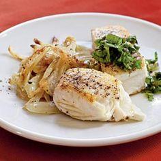 Healthy Dinner Recipe: Halibut with Caper Salsa Verde | CookingLight.com