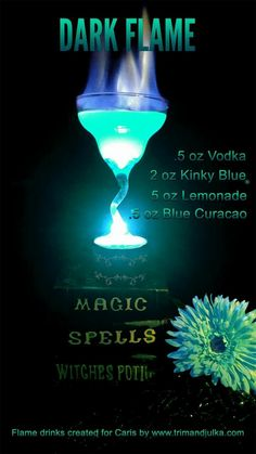 Flaming Cocktails, Rum Cocktails, Liquor Drinks, Cocktail Drinks, Disney Cocktails, Bartender Drinks, Mixed Drinks Alcohol, Alcohol Drink Recipes, Fireball Recipes