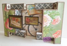 Designed by Jodi Clark for @CraftersCompUS . Downton Abbey Collection Double Shutter Card Crafter's Companion Kraft Cardstock, All papers from Downton Abbey Papercrafting CD, Toppers from Downton Abbey Embellishment pack, Big Score scoring board. Crafter's Companion Extra Strong Adhesive tape runner, Collall glue, Colorbox Dark Brown liquid chalk for distressing edges