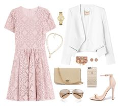 """""""Pink Girl"""" by abigaillieb ❤ liked on Polyvore featuring Rebecca Taylor, Valentino, Burberry, MaxMara, Liliana, Kate Spade, Carolee, Casetify, Accessorize and Michael Kors"""