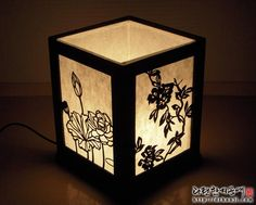 Luminaire Design, Lamp Design, Hanging Lights, Fairy Lights, Night Table Lamps, Japanese Lamps, 3d Paper Crafts, Lantern Candle Holders, Wooden Lamp