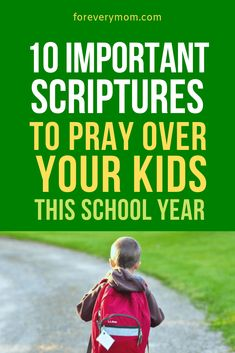 10 Important Back To School Prayers To Prepare Them Spiritually So much preparation goes into sending the kids off to school. Don't forget to prepare them spiritually. Here are 10 important back to school prayers that you don't want to miss. Back To School Prayer, Back To School Quotes, Back 2 School, Going Back To School, First Day Of School, Bible Verse For Moms, Bible Verses, Scripture Quotes, Devotions For Kids