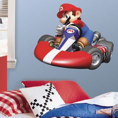 RoomMates Nintendo Mario Kart Peel and Stick Giant Wall Decal - Overstock™ Shopping - Big Discounts on Roommates Wall Decor