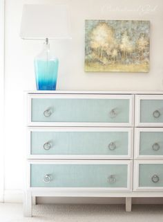 textured panel dresser make over