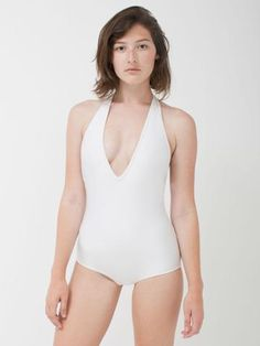 American Apparel Halter One Piece Swimsuit