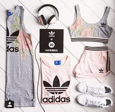 ♡ Women's Adidas Workout Clothes Fitness Apparel Must have Workout Clothing Yoga Tops Sports Bra Yoga Pants Motivation is here! Fitness Apparel Express Workout Clothes for Women Komplette Outfits, Sport Outfits, Fall Outfits, Summer Outfits, Casual Outfits, Fashion Outfits, Fashion Shoot, Fashion Pants, Sport Fashion