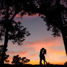 Gorgeous sunset on top of a hill in Austin. #weddinggawker