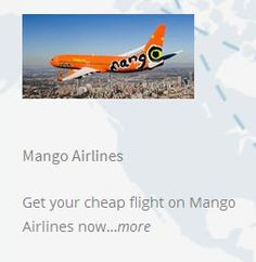 Visit Domestic Flights South Africa for cheapest booking on mango flights. Popular South Africa's loved site with safe, punctual and friendly services are seating, meals and also providing Wi-Fi network. Mango Airlines, Domestic Airlines, Flight Prices, Domestic Flights, Cheap Flights, East London, Wi Fi, South Africa, Meals