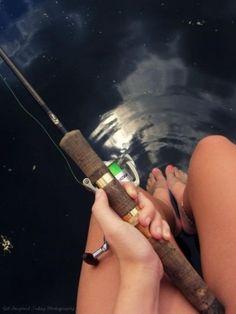 Barefoot fishing...always!!!