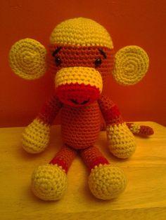 Hey, I found this really awesome Etsy listing at https://www.etsy.com/listing/168177498/marley-the-monkey-crochet-amigurumi