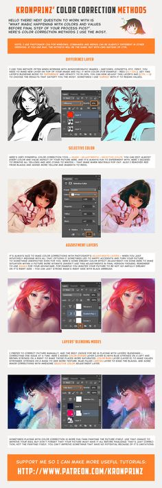 Color Correction Methods by KR0NPR1NZ on DeviantArt