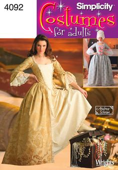 hopefully the first step to my halloween costume (the girl in the fireplace) - 18th Century Women's Costume Sewing Pattern 4092 Simplicity