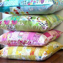 Color Strips Scrap Floor Pillows Tutorial