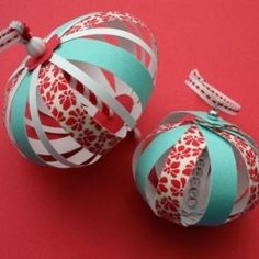DIY Paper decorations - We make these at school every year and put the kids' pictures in the middle! =)