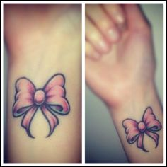 bow for wrist tattoo - Google Search