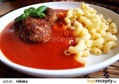 Rajská omáčka s karbanátkem recept - TopRecepty.cz Czech Recipes, Ethnic Recipes, Thing 1, Ramen, Grilling, Food And Drink, Treats, Chicken, Cooking