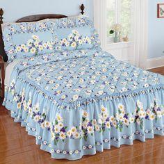 Daisy Bloom Floral Bedspread