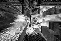 street lamp & buildings