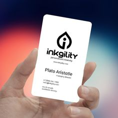 White Plastic #BusinessCards from @inkgility