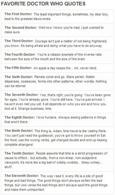 A quote from each Doctor.