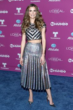 "Maritza Rodriguez arrives at Telemundo's ""Premios Tu Mundo Awards"" at American Airlines Arena on August 20, 2015 in Miami, Florida."