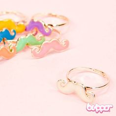 Colorful Mustache Ring