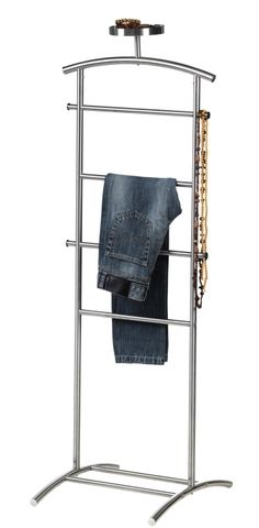 Get a jump on your morning routine by hanging your next day's outfit on a valet stand, like GRUNDTAL.