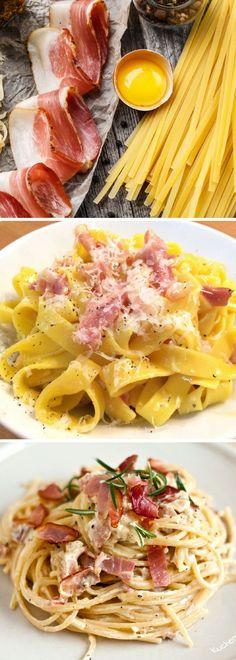 La receta para los espaguetis carbonara es típica de Roma y es apreciada en todo el mundo gracias a su sencillez, facilidad y rapidez!